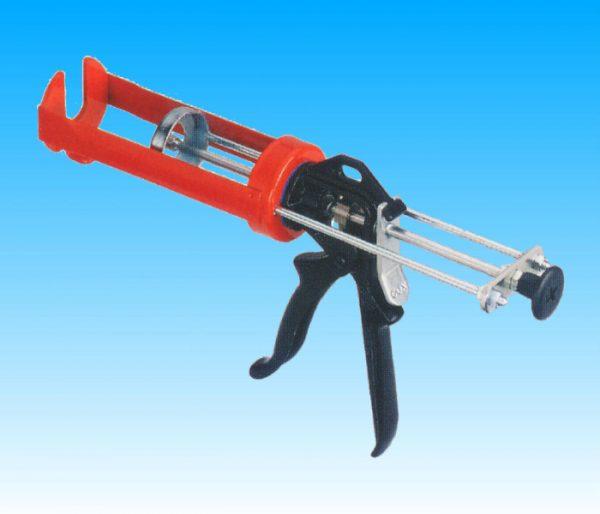Pistola professionale manuale per ancorante chimico in cartucce coassiali